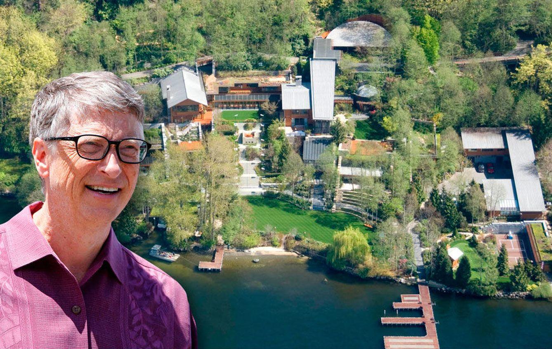 Foto: Bill Gate y su mansión en un fotomontaje realizado en Vanitatis