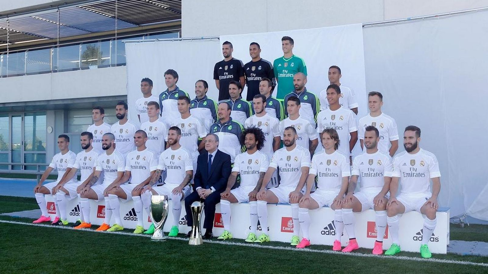 Foto: La foto oficial del Real Madrid (RealMadrid.com).