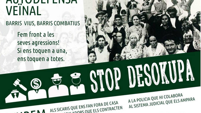 Una de las imágenes de la campaña, que aboga por la 'autodefensa vecinal'. (Stop Desokupa)