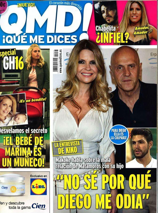 Portadas revistas: Kiosco Rosa: María Teresa Campos reina