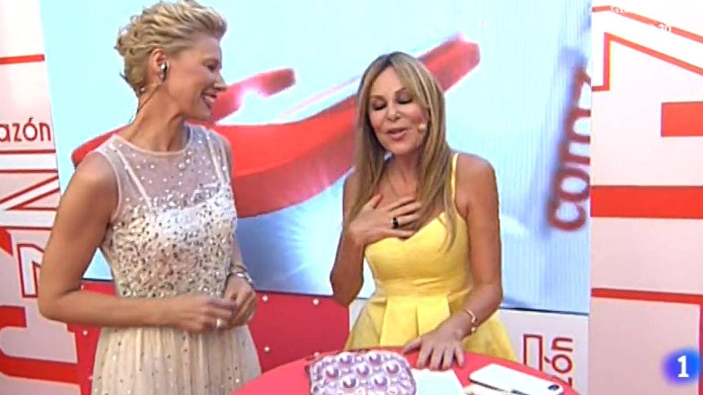 Anne Igartiburu y Ana Obregón. (TVE)