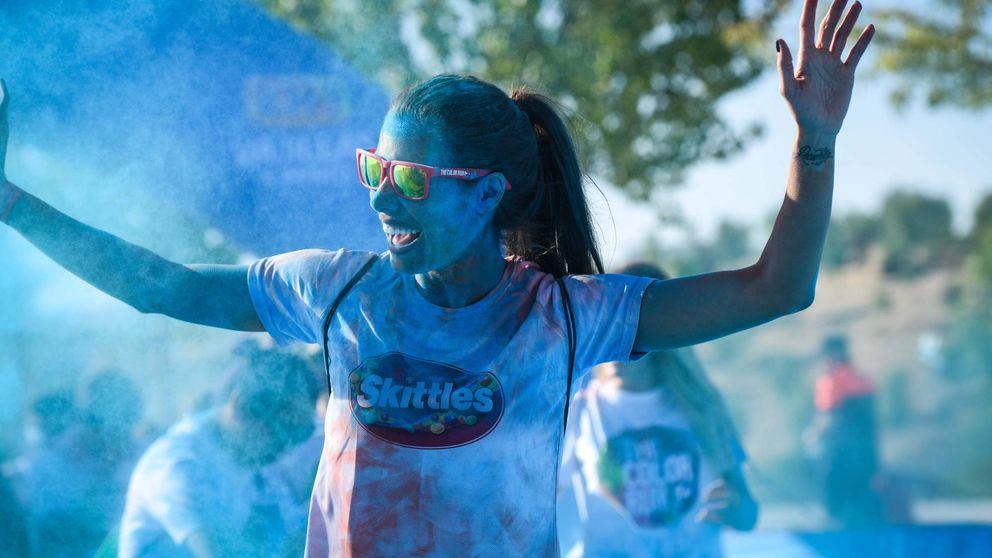 Pilar Rubio suda a 'full color' en su última carrera solidaria
