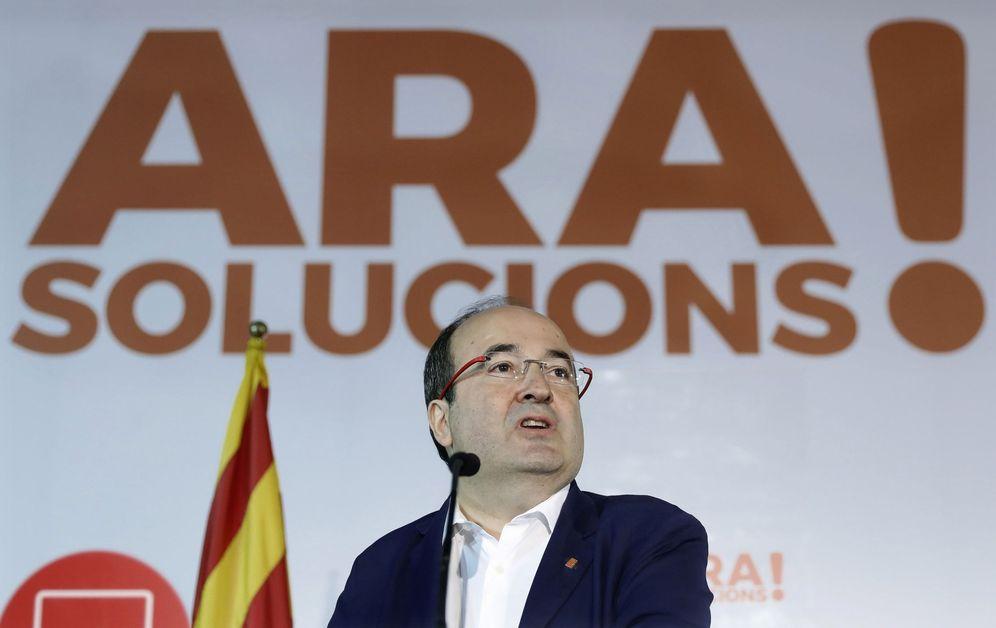 Foto: Miquel Iceta, candidato y primer secretario del PSC, este pasado 4 de noviembre en Barcelona. (EFE)