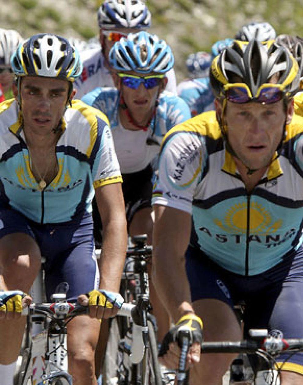 Foto: Armstrong admite que no hay 'química' con Contador
