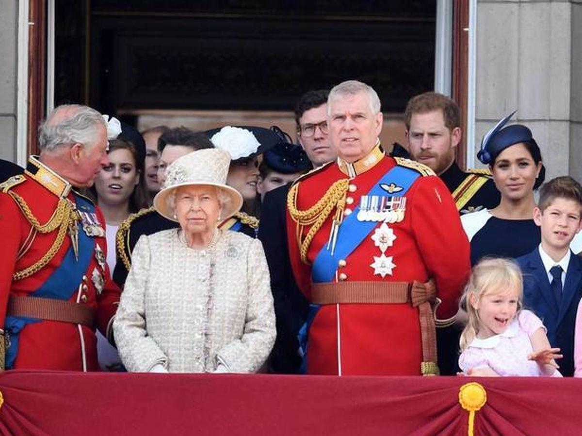Foto: La familia Real británica durante el 'Tropping the Colour' de 2019. (Cordon Press)
