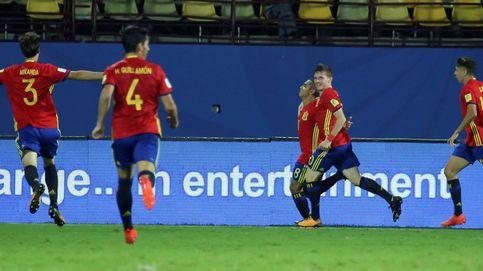 España gana a Francia con un penalti y pasa a cuartos del Mundial Sub 17