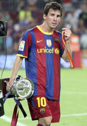 Messi, a sus 23 años, iguala a Rivaldo y Eto'o con 130 goles en el Barça