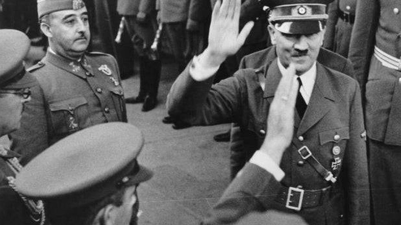 Franco y Hitler en la estación de Hendaya (Cordon Press)