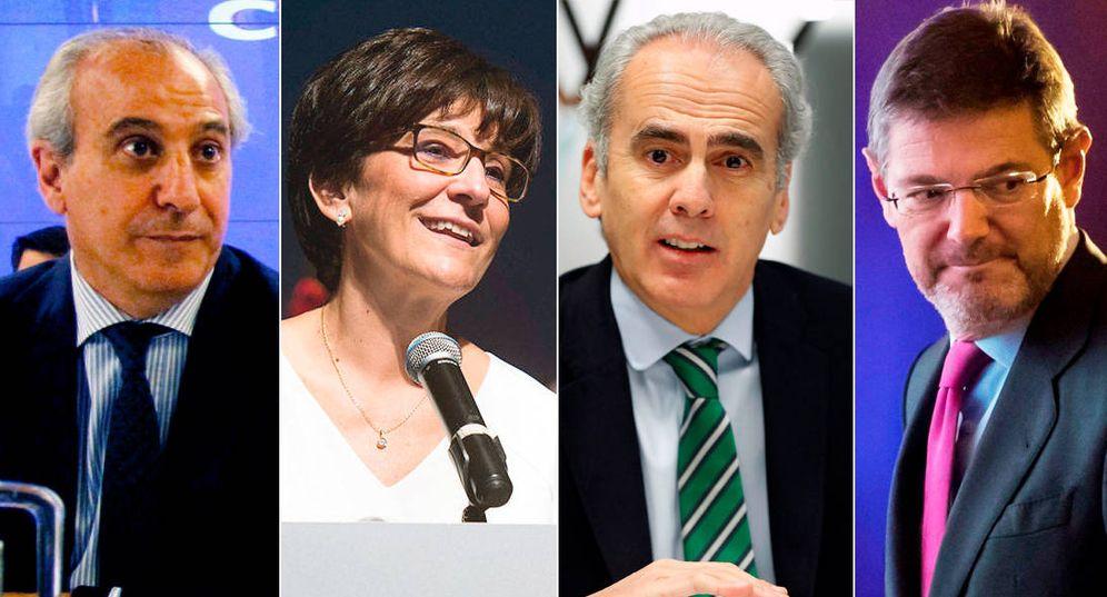 Foto: Juan Carlos Vera, Susana Pérez Quislant, Enrique Ruiz Escudero y Rafael Catalá. (de izq. a der.)