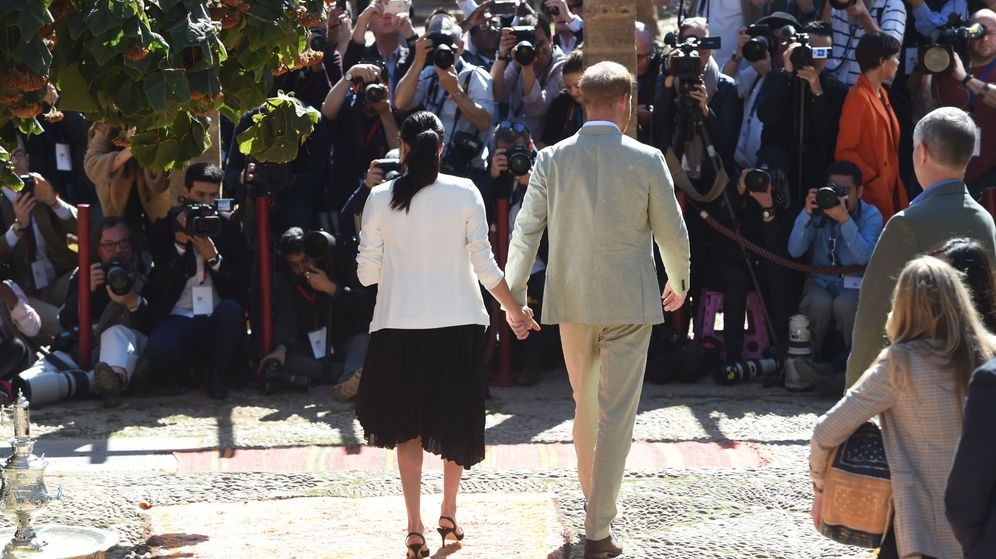 Foto: Los duques de Sussex, durante su viaje a Marruecos. (EFE)
