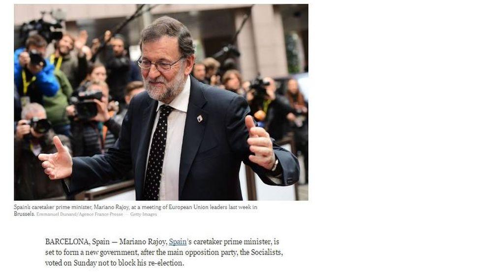 Así cubre la prensa internacional la abstención del PSOE: La crisis termina en España