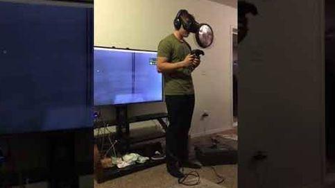 Un juego de realidad virtual, un joven asustadizo y un televisor destrozado: el vídeo que arrasa en Youtube