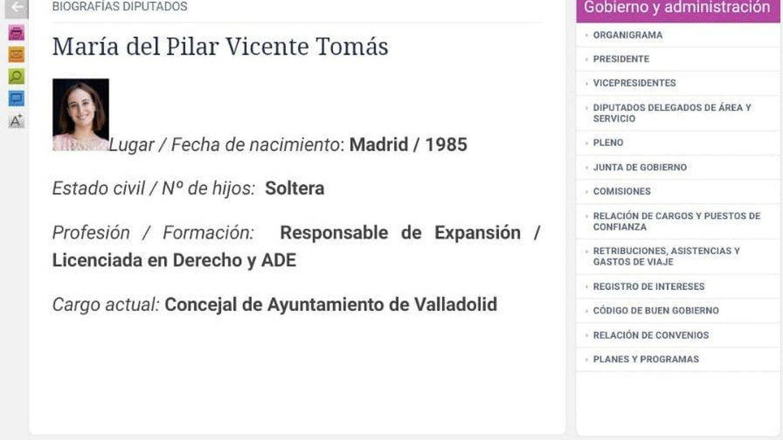 Captura de pantalla de la página web de la Diputación de Valladolid.