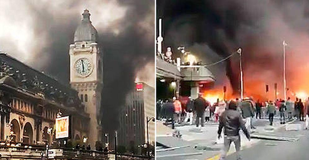 Foto: Incendio junto a la 'Gare de Lyon'