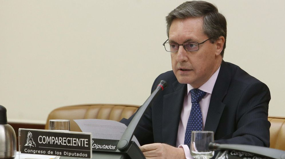 Foto: Santiago Menéndez, director de la Agencia Tributaria, en una comparecencia en el Congreso. (Efe)