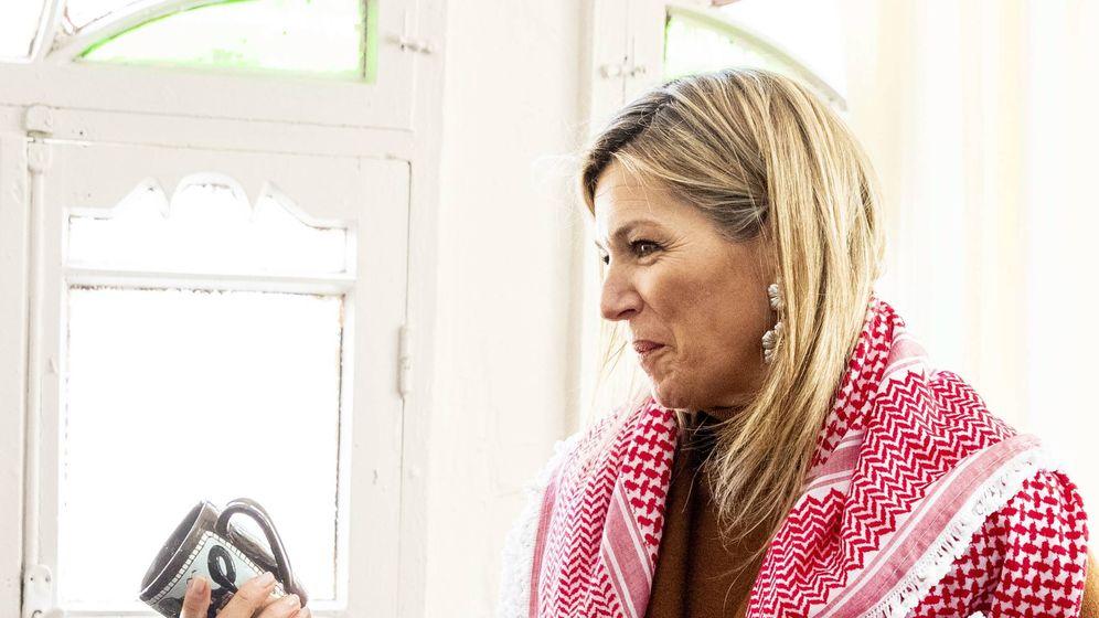 Foto: La reina Máxima en Jordania. (Cordon Press)