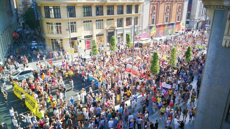 Imagen de la manifestación. (Plataforma en Defensa de Madrid Central)