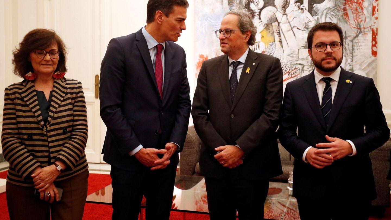 Reunión entre el Gobierno y la Generalitat en Barcelona. (Reuters)