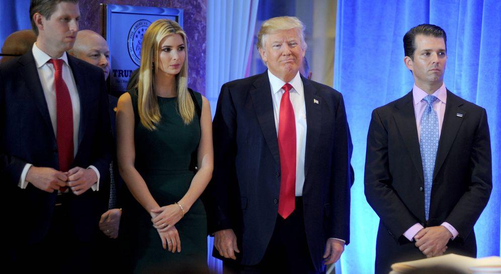 Foto: Los hijos de Trump en una imagen de archivo. (Gtres)