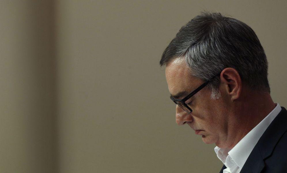 Foto: El vicesecretario general de Ciudadanos, José Manuel Villegas, durante la rueda de prensa tras la reunión a tres. (EFE)