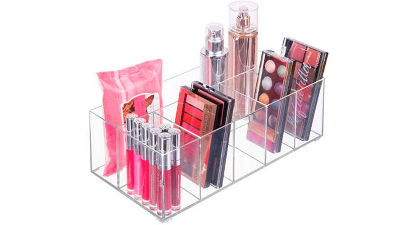 Organizador de maquillaje mDesign con 6 compartimientos