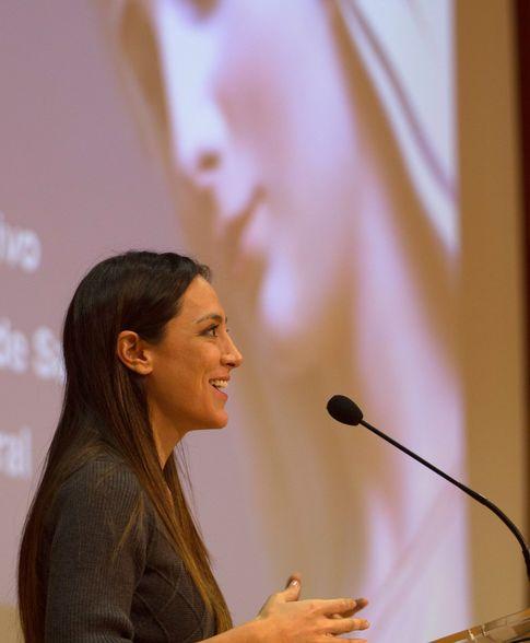 Tamara durante la charla