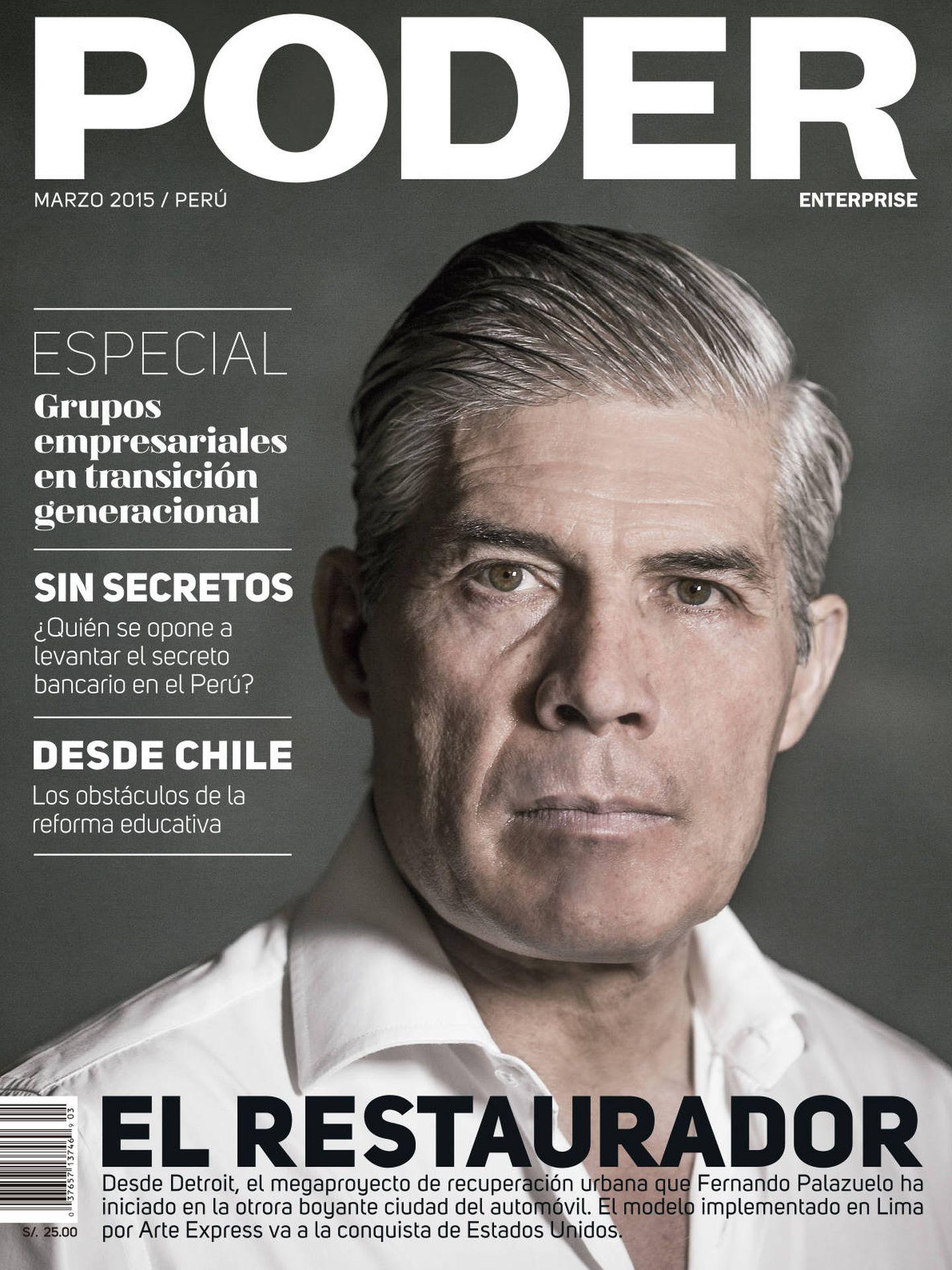 Fernando Palazuelo en la revista 'Poder'.
