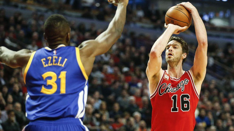 Los Golden State Warriors aplastan a los Bulls en el peor partido de año de Gasol