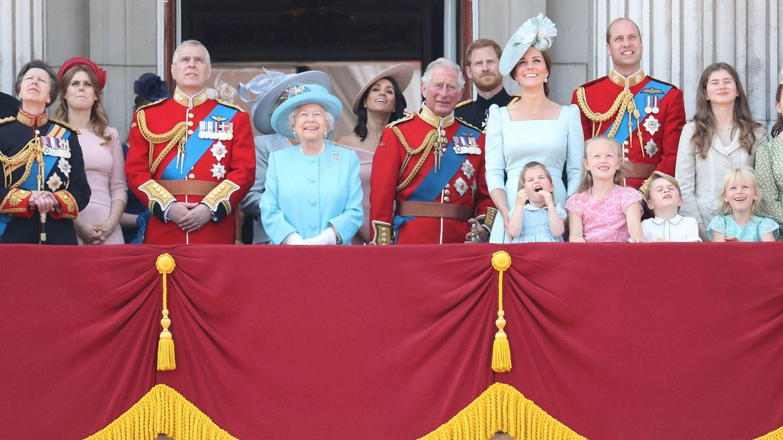 La familia real durante el pasado Trooping The Colour. (Getty)
