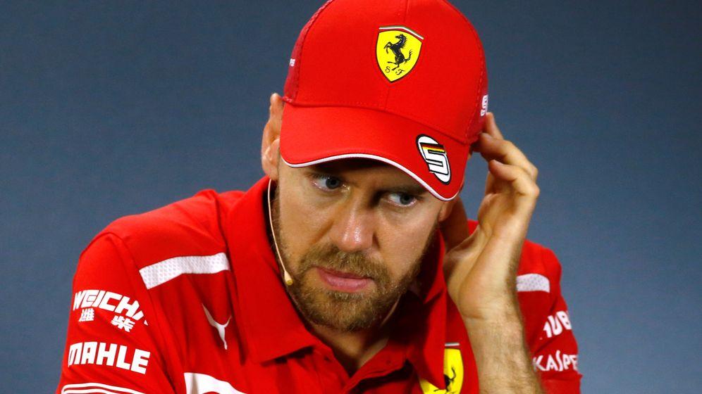 Foto: Sebastian Vettel, en la pasada rueda de prensa del Gran Premio de Australia. (Reuters)