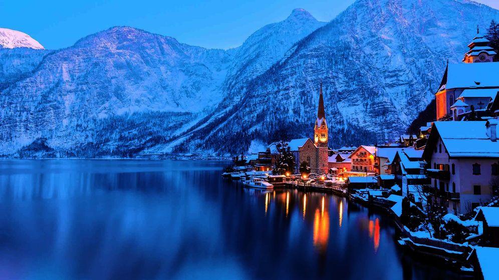 Foto: Imagen de Hallstatt, pueblo de Austria donde la agencia Snowmada te llevará este invierno.