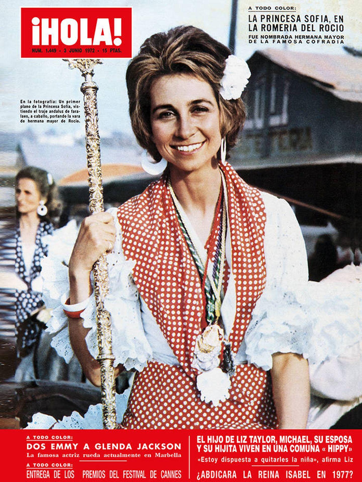 La reina Sofía, en la portada de la revista '¡Hola!' en 1972.
