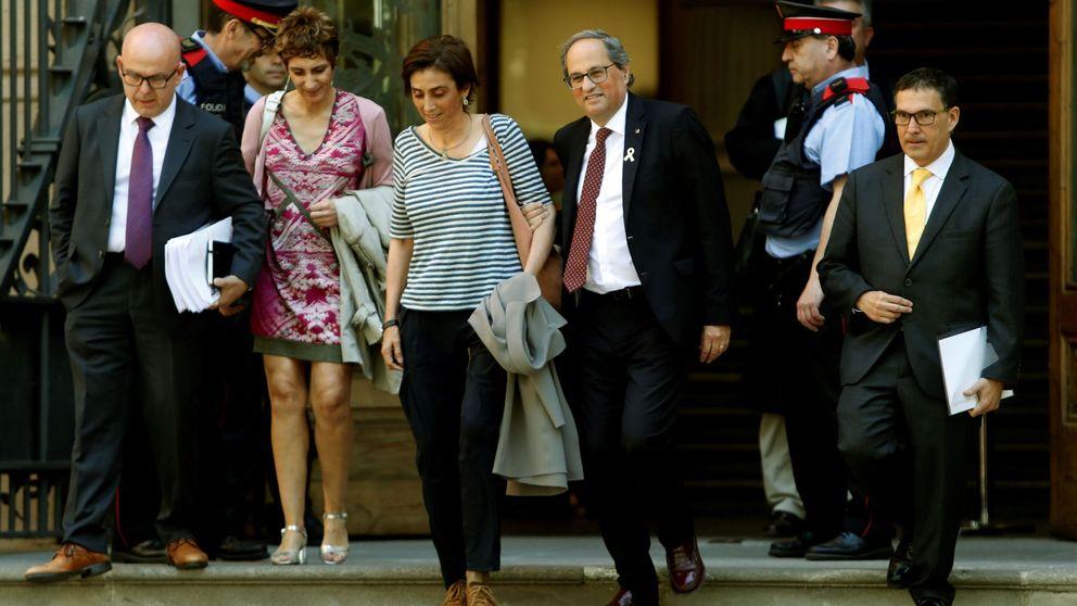 Torra, en el TSJC sobre los lazos amarillos en la Generalitat: Sí, desobedecí