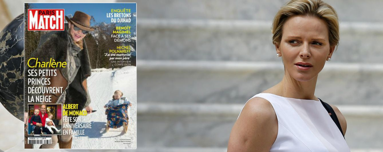 Foto: La princesa Charlène y la portada de 'Paris Match'