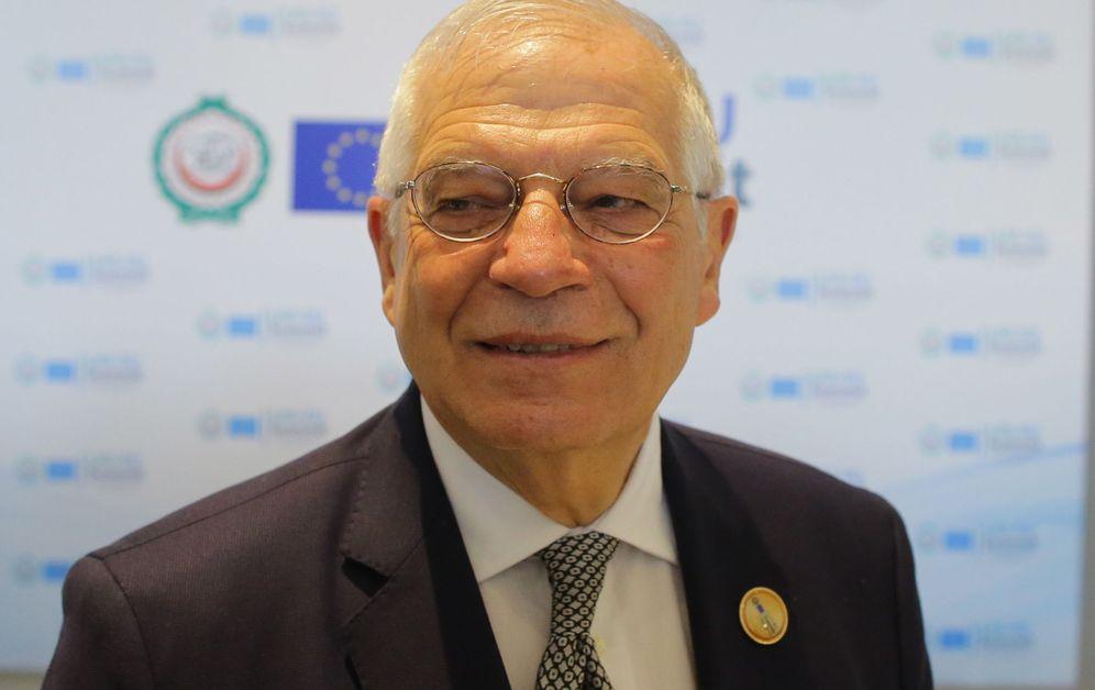 Foto: El ministro de Exteriores y próximo candidato socialista a las europeas, Josep Borrell, el pasado 24 de febrero en Sharm-el-Sheikh, Egipto. (Reuters)