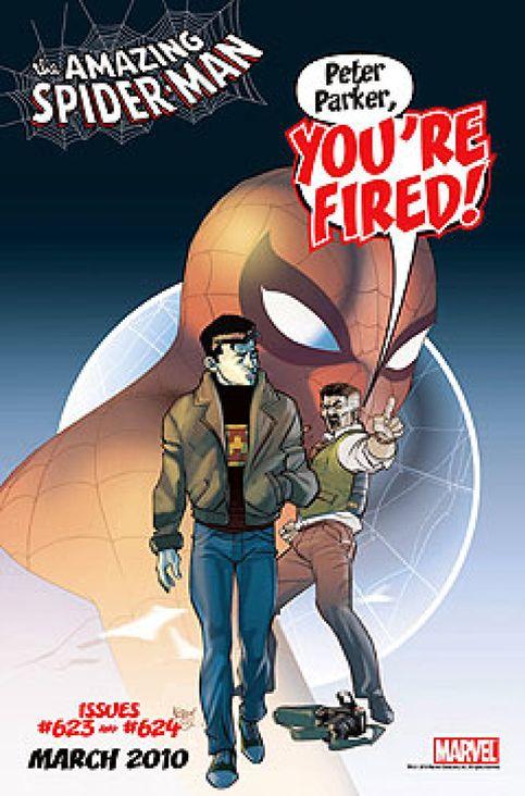 Spiderman, a la cola del paro en su último número