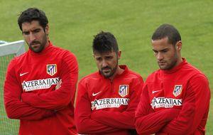 El Atlético ya está en Lisboa en carne viva y con Villa como único experto