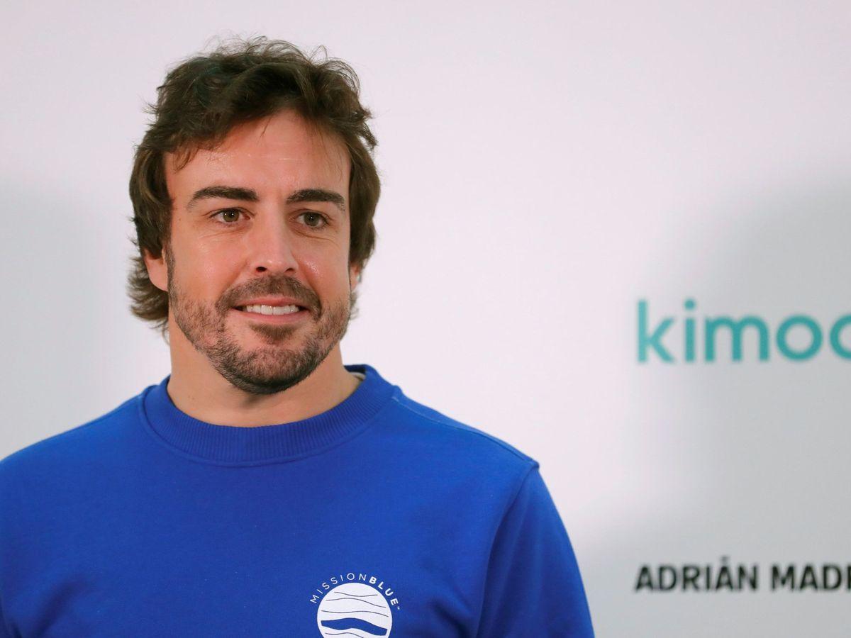 Foto: Fernando alonso en un acto de presentación de su marca