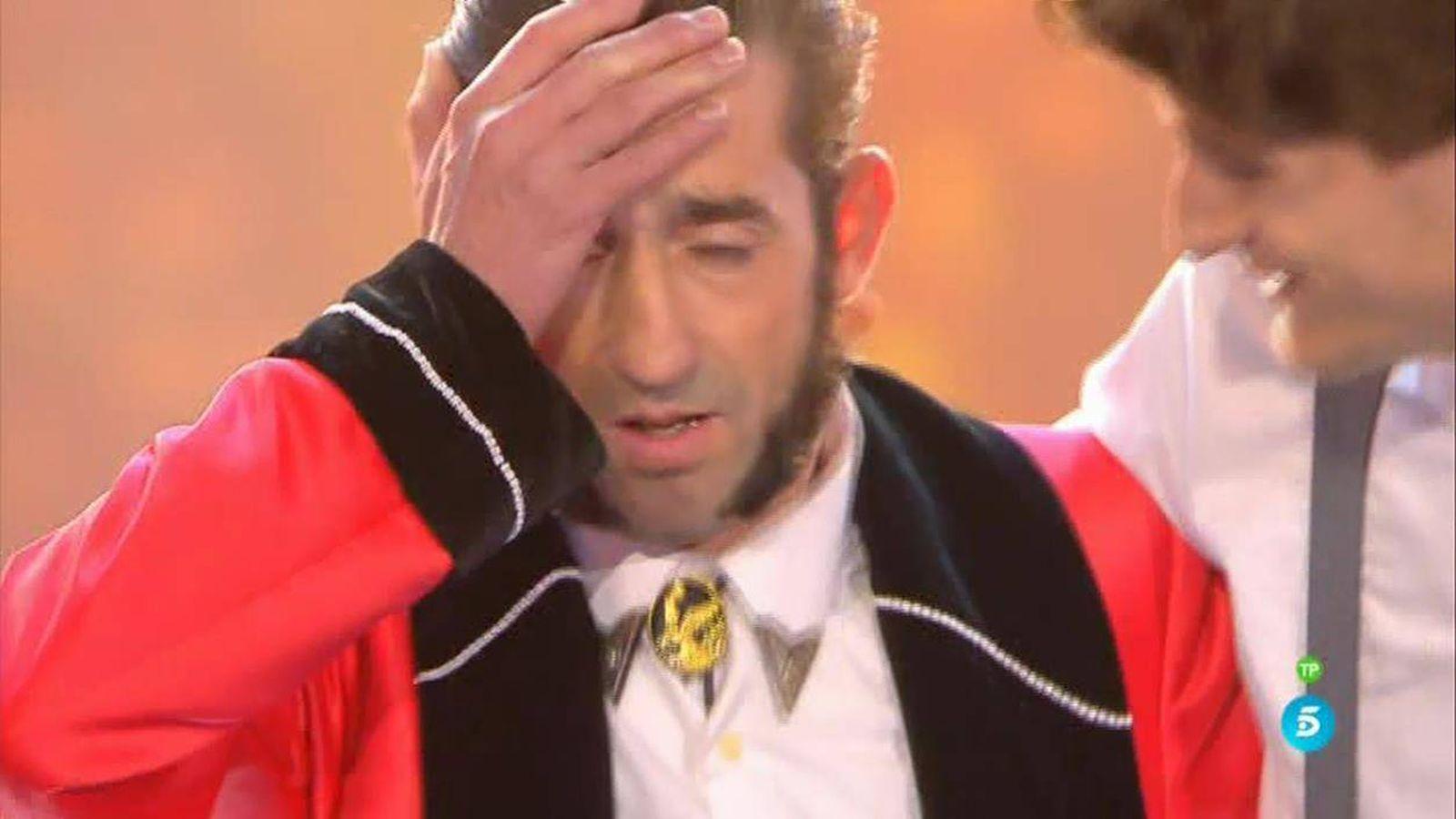 Foto: El Tekila en el momento de conocer que es el ganador de 'Got Talent España'.