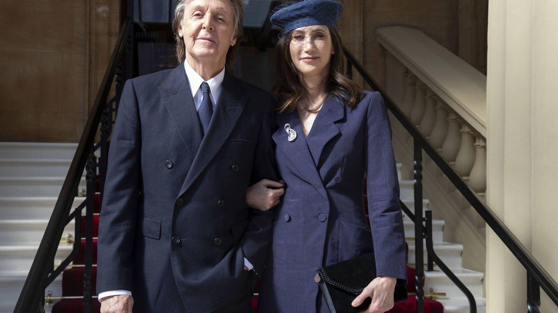 Sir Paul McCartney y su mujer. (Getty)