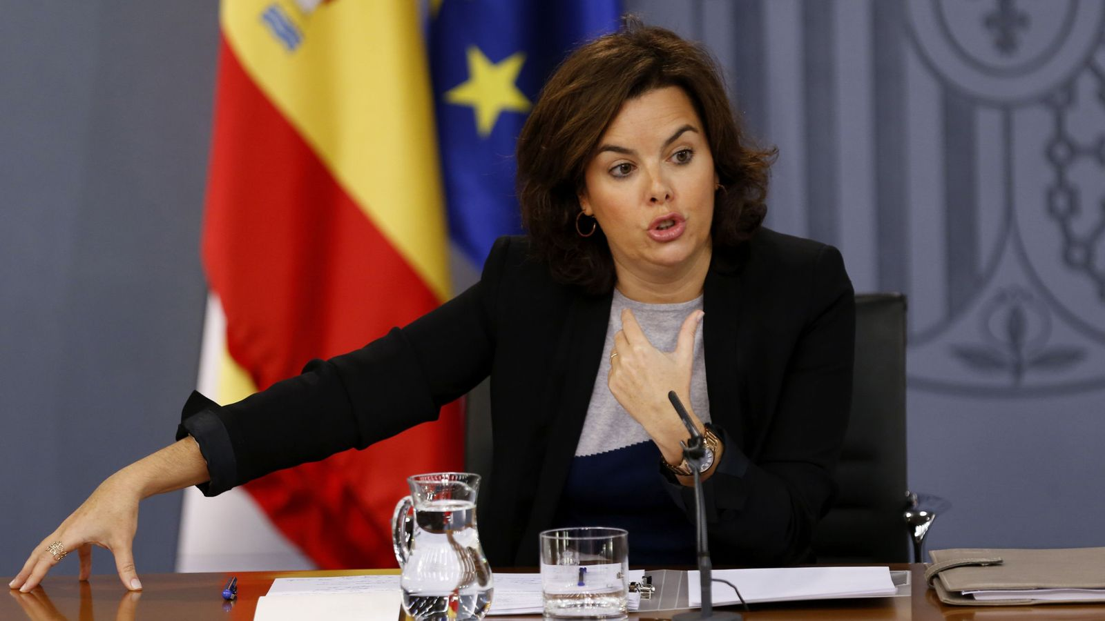 Foto: La vicepresidenta del Gobierno en funciones, Soraya Sáenz de Santamaría. (eFE)