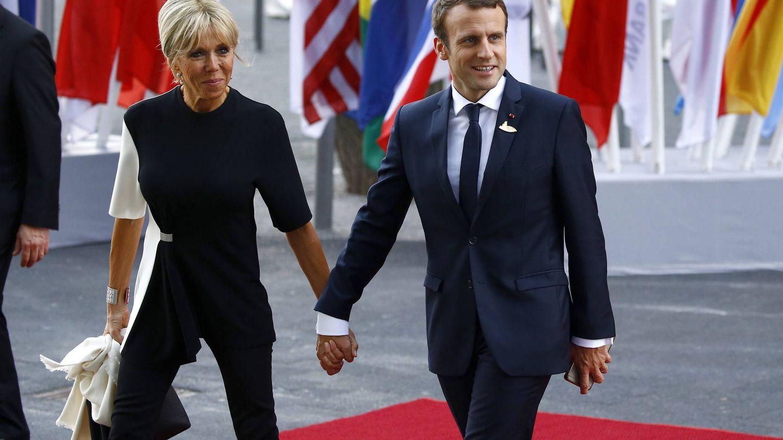 Emmanuel y Brigitte Macron. (Getty)