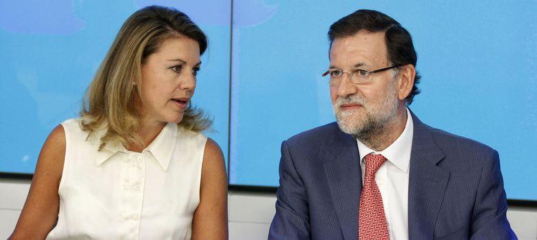 Foto: María Dolores de Cospedal y Mariano Rajoy (Efe)