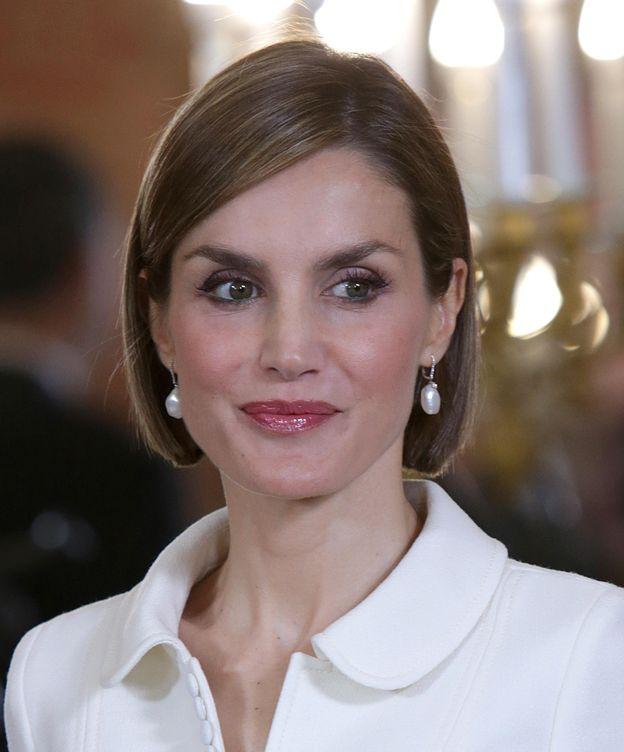 Foto: Doña Letizia durante el almuerzo ofrecido en el Palacio Real (Gtres)