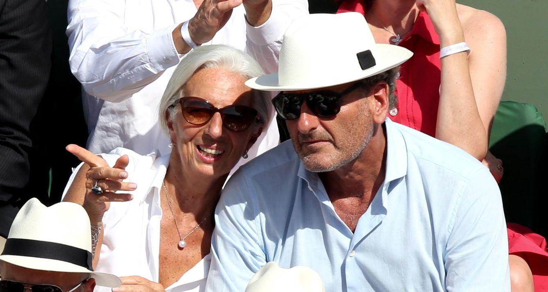 Foto: Christine Lagarde junto a su pareja, Xavier Giocanti, disfrutando del torneo de tennis Roland Garros en 2014 (Gtres)