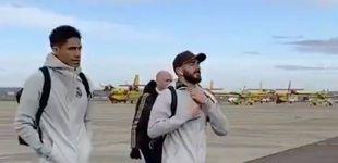 Post de Los mensajes al Real Madrid por ir en avión a Salamanca