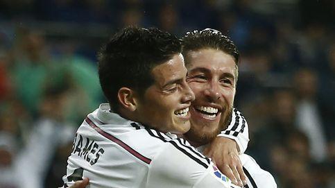 Sergio Ramos le tapa 'las vergüenzas' a James con Photoshop