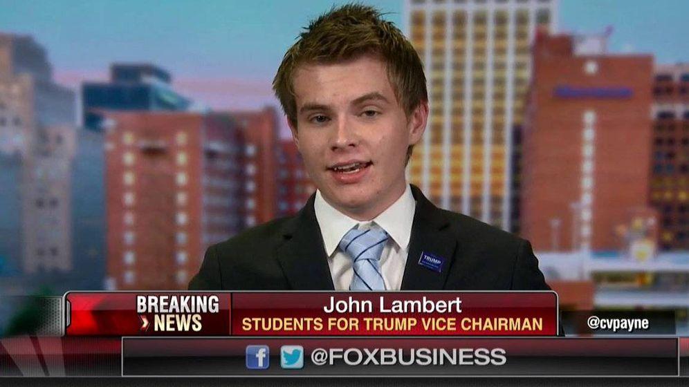 Foto: Lambert, en una de sus apariciones en televisión. (Captura de un vídeo de la cadena Fox News)