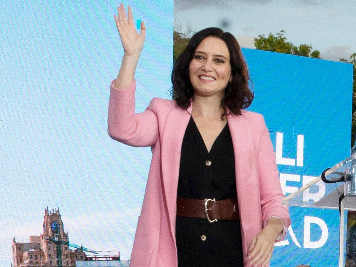 Foto: Isabel Díaz Ayuso, en un acto oficial. (Getty)