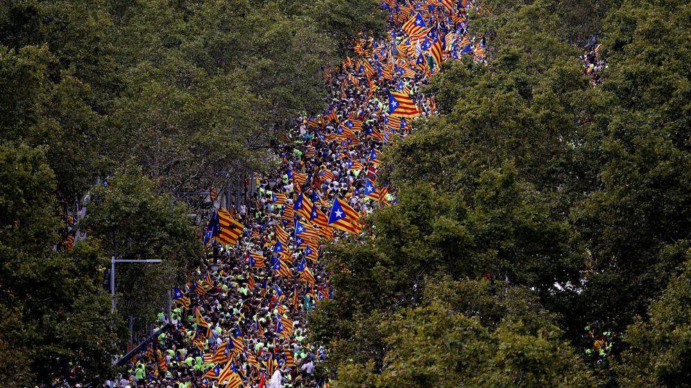 Foto: Manifestación de la ANC con motivo de la Diada de cataluña el año pasado. (EFE)